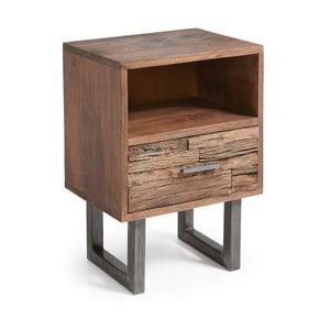 Noční stolek z mangového dřeva La Forma Loft, 40x30cm