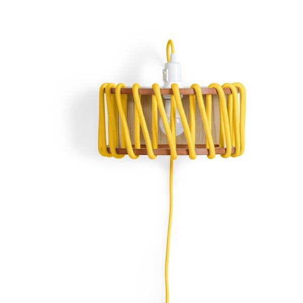 Aplică din lemn EMKO Macaron, lungime 30 cm, galben