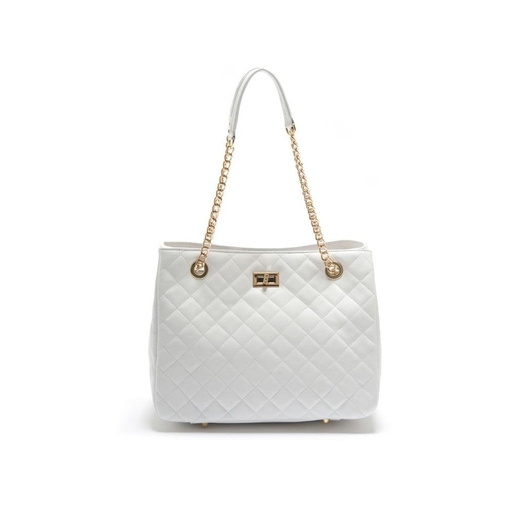 Bílá kožená kabelka Isabella Rhea Tempa