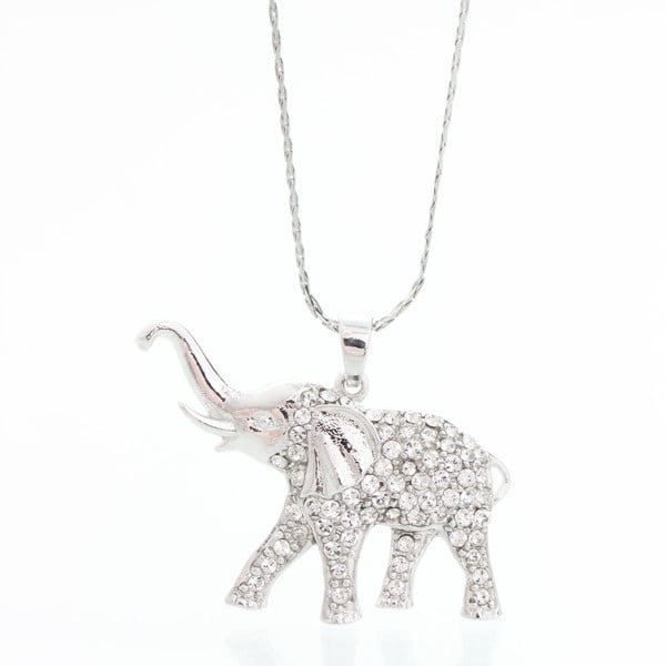 Colier cu pietre Swarovski Elements Laura Bruni Elephant