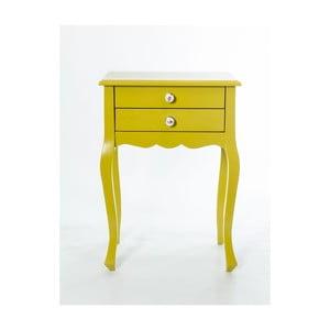 Odkládací stolek Nora Yellow, 52x35x72 cm