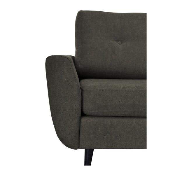 Tmavě šedé křeslo s tmavými nohami Mazzini Sofas Cedar