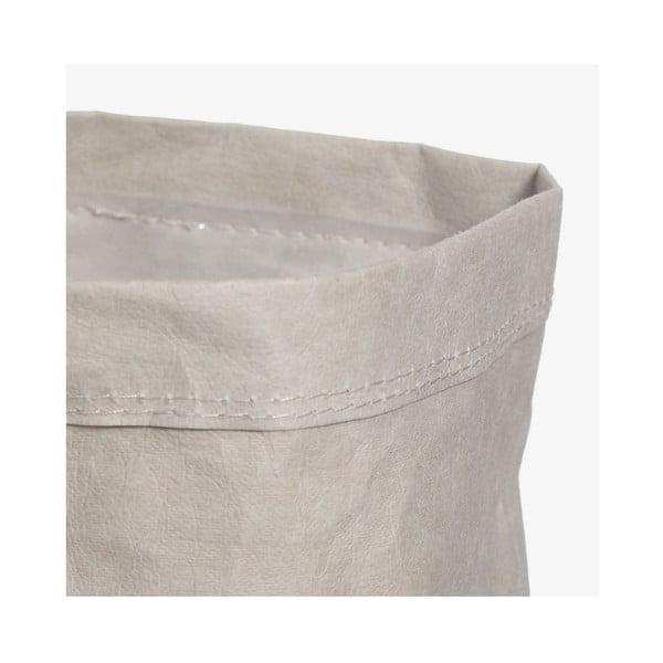 Coș din hârtie lavabilă pentru rufe Furniteam Home, ⌀ 15 cm, gri