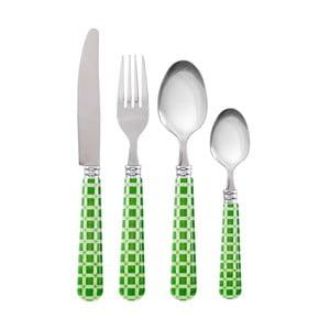Příbory, zelené kostky