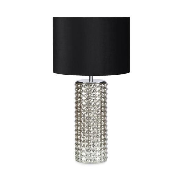 Stolní lampa v černo.stříbrné barvě Markslöjd Proud, ø34cm