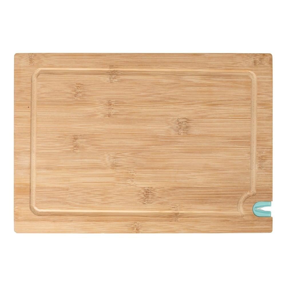 Krájecí prkénko z bambusového dřeva s bruskou na nůž, 33 x 23 cm