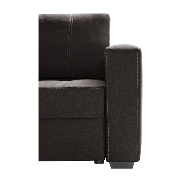 Tmavě hnědá sedačka Interieur De Famille Paris Succes, pravý roh