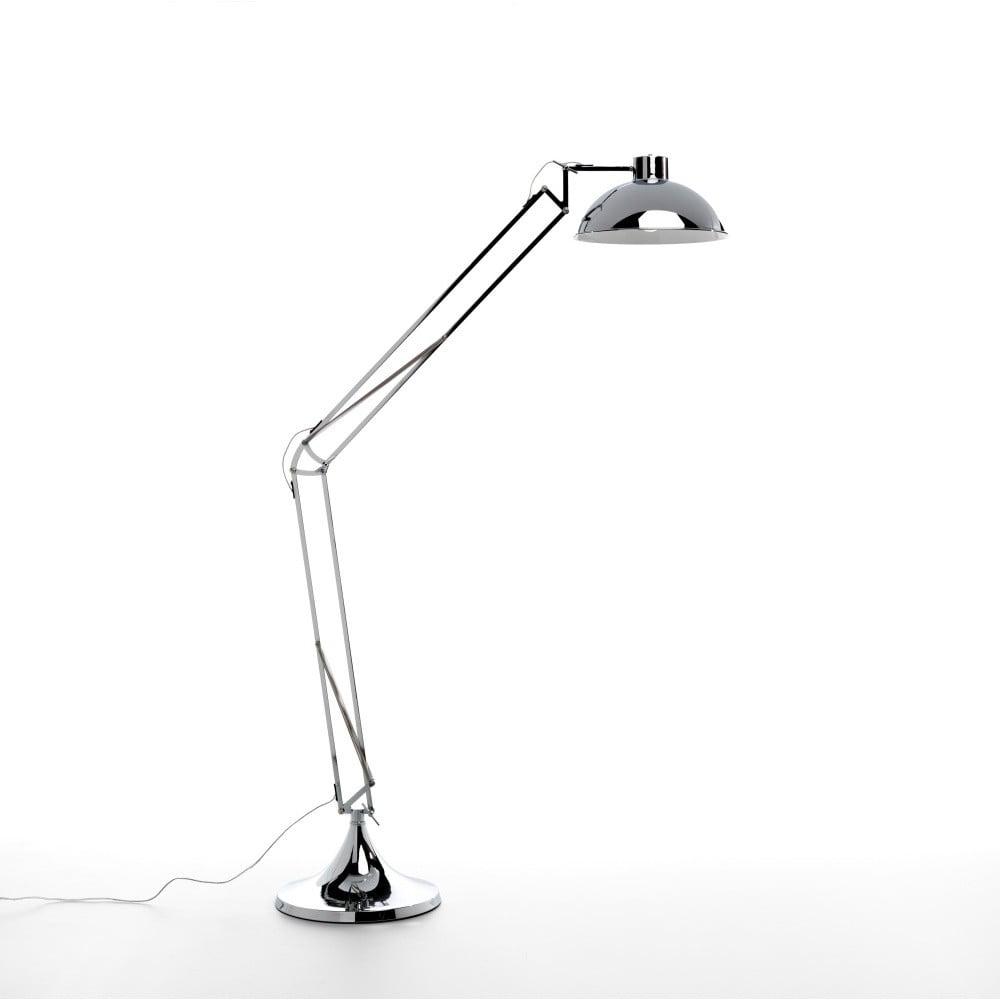 Stojací lampa ve stříbrné barvě Design Twist Isparta Chrome