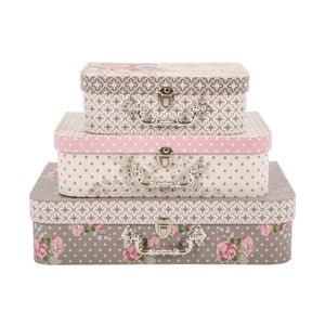 Sada 3 úložných kufříků French Elegance