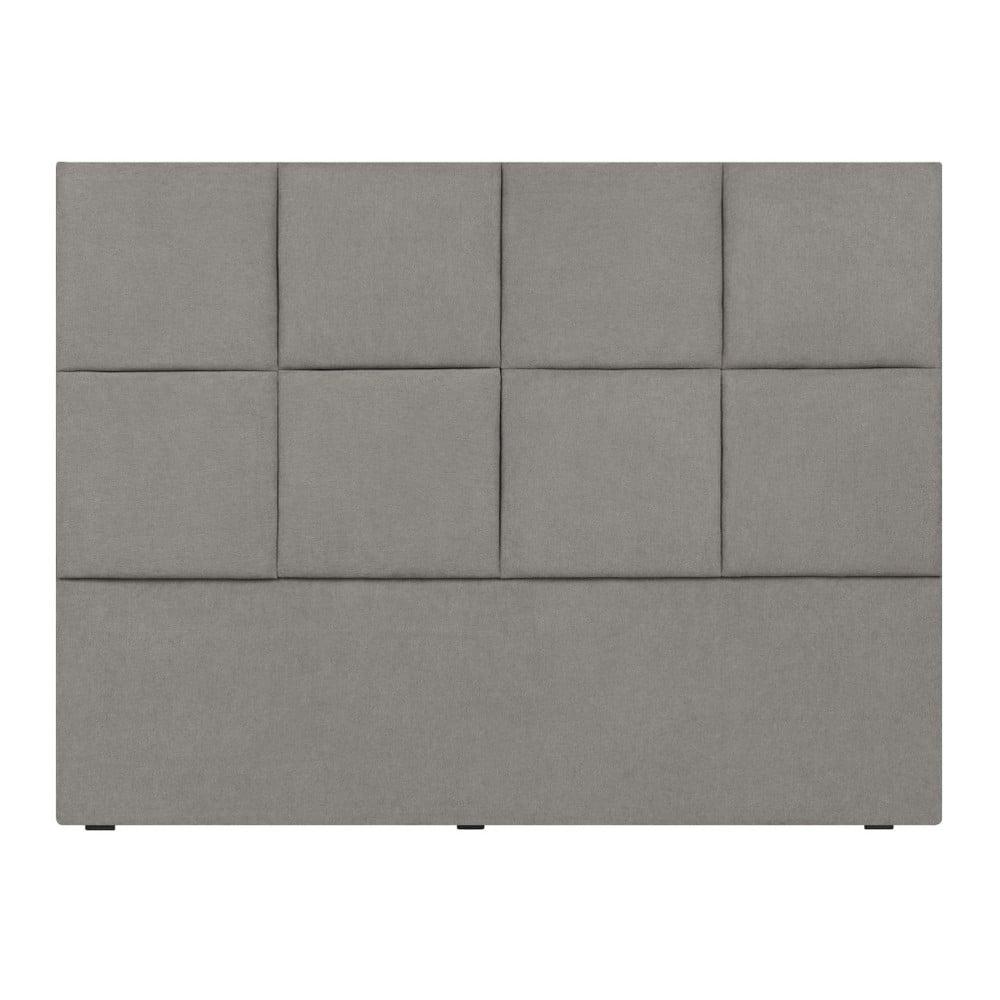 Světle šedé čelo postele Mazzini Sofas Barletta, 140 x 120 cm