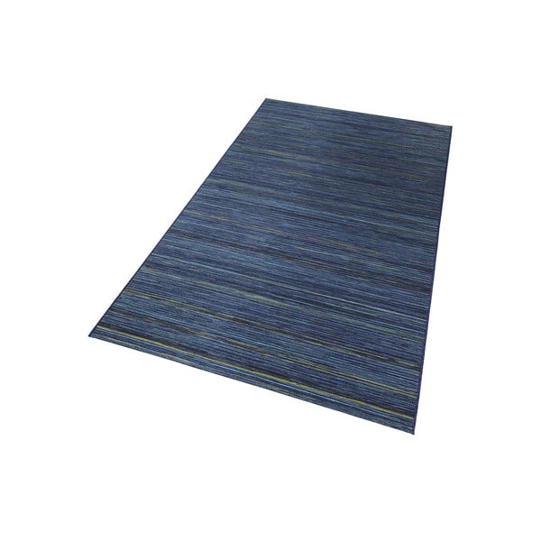 Koberec vhodný i na ven Lotus 160x230 cm, modrý melír