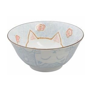 Modrá miska Tokyo Design Studio Cat, ø15,3cm