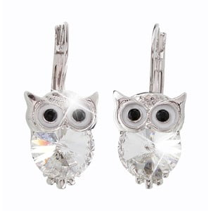 Cercei Swarovski Elements Laura Bruni Owl Crystals