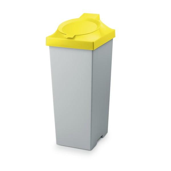 Odpadkový koš Top, 20 l, žlutý