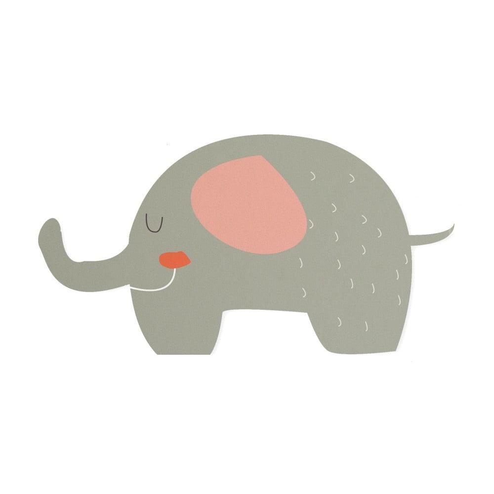 Dětšká předložka Little Nice Things Elephant, 80 x 50 cm