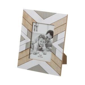 Béžovo-šedý fotorámeček Unimasa, 18 x 23 cm