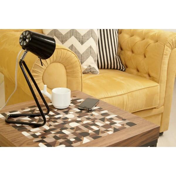 Odkládací stolek s deskou v dekoru ořechového dřeva TemaHome Metrics