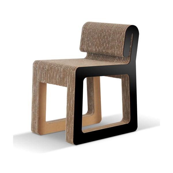 Kartonová židle Hook Black