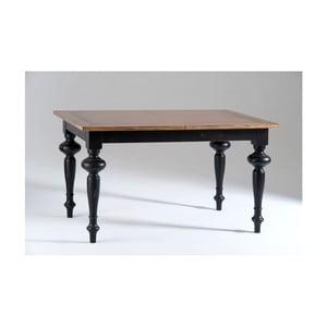 Černý dřevěný rozkládací jídelní stůl Castagnetti Adeline, 140x80cm