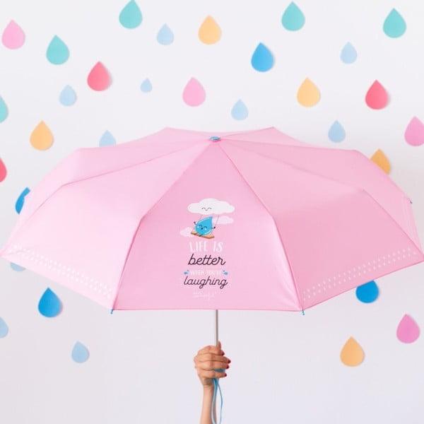 Life is Better rózsaszín esernyő - Mr. Wonderful