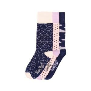 Sada 3 párů barevných ponožek Funky Steps Broward, vel. 35-39