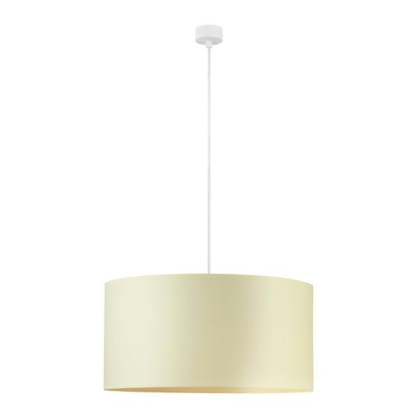 Krémové stropní svítidlo s bílým kabelem Sotto Luce Mika, ⌀50cm
