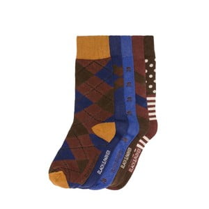 Sada 5 párů vysokých unisex ponožek Black&Parker London Sayer,velikost37/43