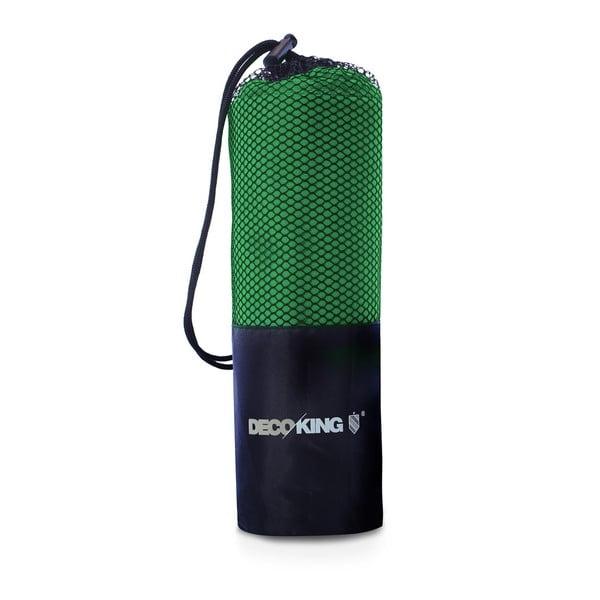 Zielony szybkoschnący ręcznik kąpielowy DecoKing EKEA, 60x120 cm