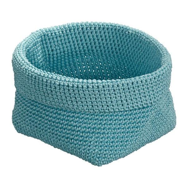 Modrý kulatý košík Wenko Malia