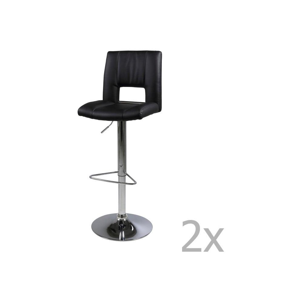 Sada 2 černých barových židlí Actona Wilma Barstool