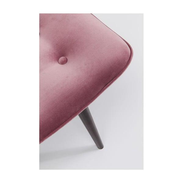 Růžová stolička Kare Design Vicky Velvet