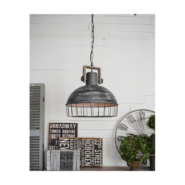 Šedé stropní svítidlo Orchidea Milano Old Factory, ø50cm