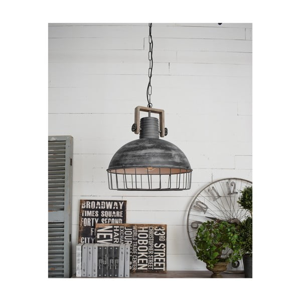 Sivé stropné svietidlo Orchidea Milano Old Factory, ø 50 cm