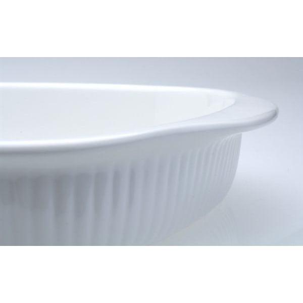 Bílá oválná kameninová zapékací mísa BergHOFF Bianco, 34 x 23 cm