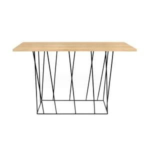 Konzolový stolek s černými nohami TemaHome Helix, 40 x 120 cm