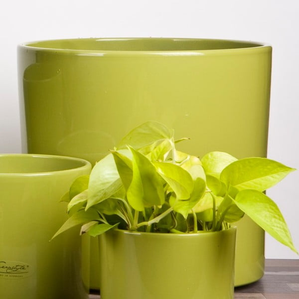 Květináč Ovale zelený, 23 cm