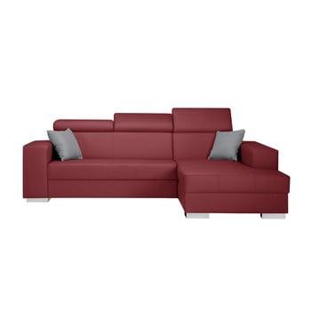 Canapea cu șezlong partea dreaptă și perne gri Interieur De Famille Paris Tresor roșu
