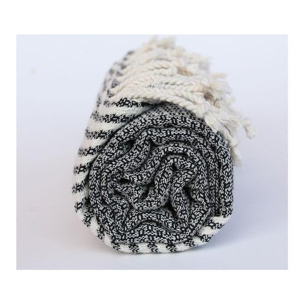 Peshtamal Stripy Black, 100x180 cm