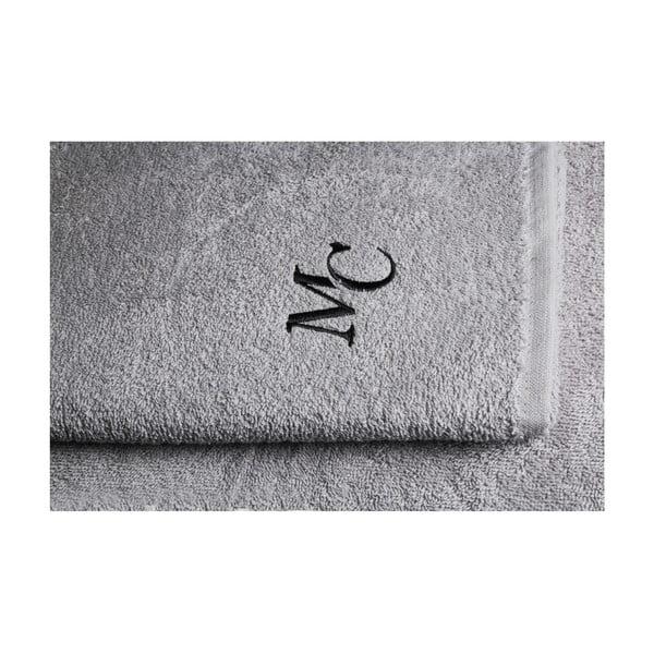 Set šedého ručníku a osušky Samantha
