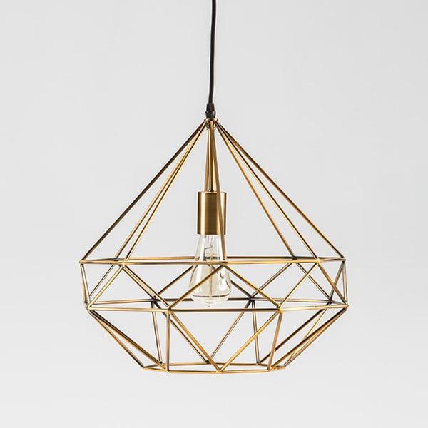 Závěsné svítidlo z kovu zlaté barvy Thai Natura Prism