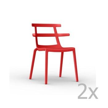 Set 2 scaune de grădină Resol Tokyo, roșu