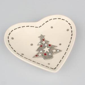 Keramická miska Dakls Christmas, 21,5 x 19 cm