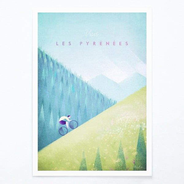 Les Pyrenees poszter, A3 - Travelposter