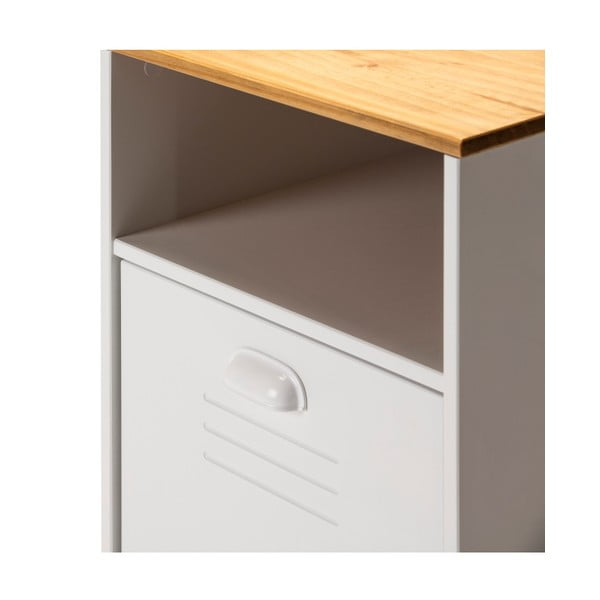 Bílý psací stůl s hnědou deskou Marckeric Zack