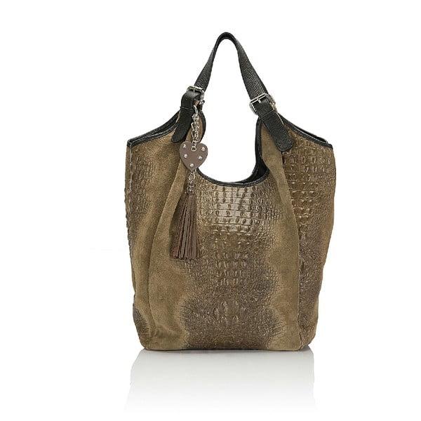 Kožená kabelka Giorgio Costa 15022 Taupe