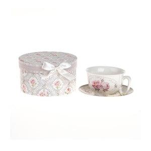 Porcelánový šálek s podšálkem v krabičce Ribbon Roses
