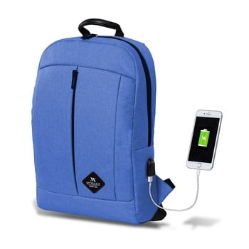 Rucsac cu port USB My Valice GALAXY Smart Bag, albastru deschis de la Myvalice