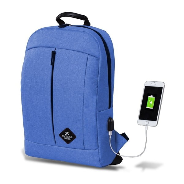 Modrý batoh s USB portom My Valice GALAXY Smart Bag