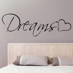 Samolepka na stěnu Dreams, 70x50 cm