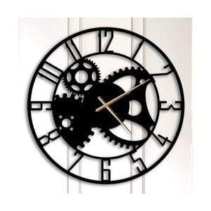 Černé kovové nástěnné hodiny Grace